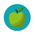 Apple fruit fresh isolated icon