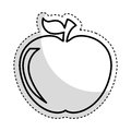 Apple fruit isolated icon
