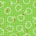 Apple fruit seamless pattern red green white illustration Royalty Free Stock Photo