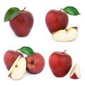 Apple fruits with leaf Royalty Free Stock Photo