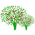 Apple fruktträdgård Arkivbild
