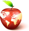 Apple Globe with World Map Royalty Free Stock Images