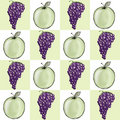 Apple and Grape Cluster Background Stock Photography