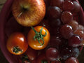 Apple grape and tomatoe Royalty Free Stock Photo