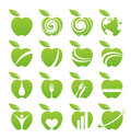 Apple icon set Royalty Free Stock Photo