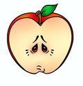 Apple illustration cartoon red emotions depression isolated Royalty Free Stock Photos