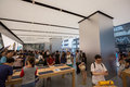 Apple inc opens new hong kong store in canton road people at the s the tsim sha tsui district of china on thursday july today Stock Photo