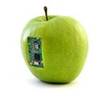 Apple with an integrated circuit Royalty Free Stock Photo