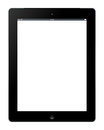 Apple ipad the latest template illustration on white background Stock Images