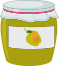 Apple jam in jam jar for for marmalade Stock Photography