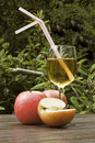 Apple juice and apples Stock Photography
