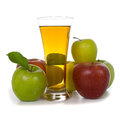 Apple juice and apples Royalty Free Stock Images
