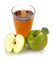 Apple juice and fruit in a glass of Stock Photography
