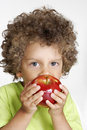 Apple kid. Stock Photos