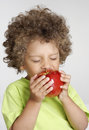 Apple kid. Royalty Free Stock Photos