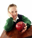 Apple kid. Stock Photo