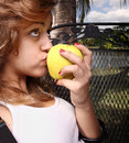 Apple kiss Stock Photos