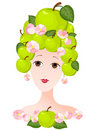 Apple lady Royalty Free Stock Photography