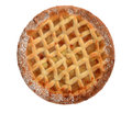 Apple lattice pie isolated on white bramley homemade background Stock Images