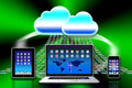 Apple Mac iCloud data apps Royalty Free Stock Image