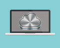 Apple mac icloud laptop with isolated background Stock Photography