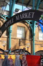 The Apple Market in Covent Garden. London, UK Royalty Free Stock Photo