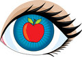 Apple of my Eye Stock Photo