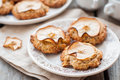 Apple oat cookies rustic style copy space for your text Stock Images