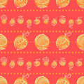 Apple pattern drawing style Royalty Free Stock Photo