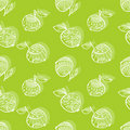 Apple pattern drawing style Royalty Free Stock Photos