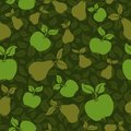 Apple pear seamless background Royalty Free Stock Image
