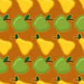 Apple and pear seamless pattern Royalty Free Stock Images