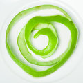 Apple peel spiral Royalty Free Stock Photo