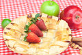 Apple pie, apple, lime, cinnamon and strawberry Stock Photography