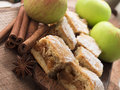 Apple pie with cinnamon tasteful fresh fruit Royalty Free Stock Photos