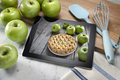 Apple Pie Dessert Computer Tablet Royalty Free Stock Photo