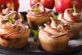 Apple pie in the form of roses. Festive cakes Royalty Free Stock Photo