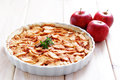 Apple pie homemade sweet food Royalty Free Stock Photography