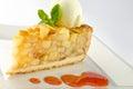 Apple pie with ice cream Royalty Free Stock Photo