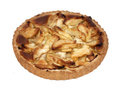 Apple pie (isolated) Stock Image
