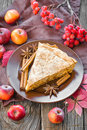 Apple pie on a plate Royalty Free Stock Photo