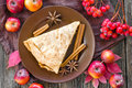 Apple pie on a plate Stock Image