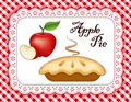 Apple Pie, Lace Doily Place Mat, Red gingham Royalty Free Stock Photo