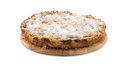 Apple-pie on a wooden plate Royalty Free Stock Photo