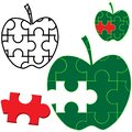 Apple Puzzle Royalty Free Stock Photo