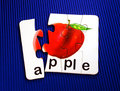 Apple in puzzle Royalty Free Stock Photo