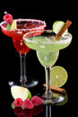 Apple and Raspberry margaritas  - Most popular coc Royalty Free Stock Photo