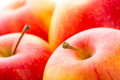 Apple red apples close up photo fresh fruit Royalty Free Stock Image