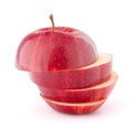 Apple red sliced Stock Images