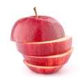Apple red sliced Royalty Free Stock Photo